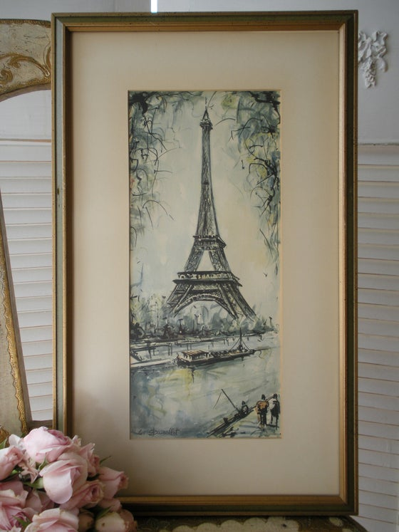 Image of Watercolour La Tour Eiffel