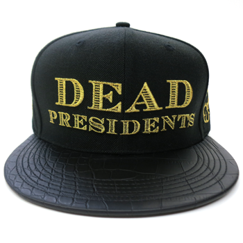 Image of Dead Presidents Strapback (Black/Gold)