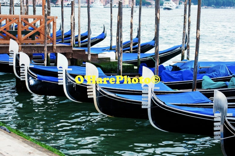 Image of VENICE GONDOLAS • Custom Framed