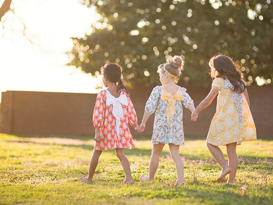 Image of Girls Piper Bow Back Dress - Made to Order