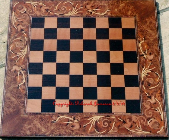 Image of Item No. 166. Floral Chessboard Can Be Personalised