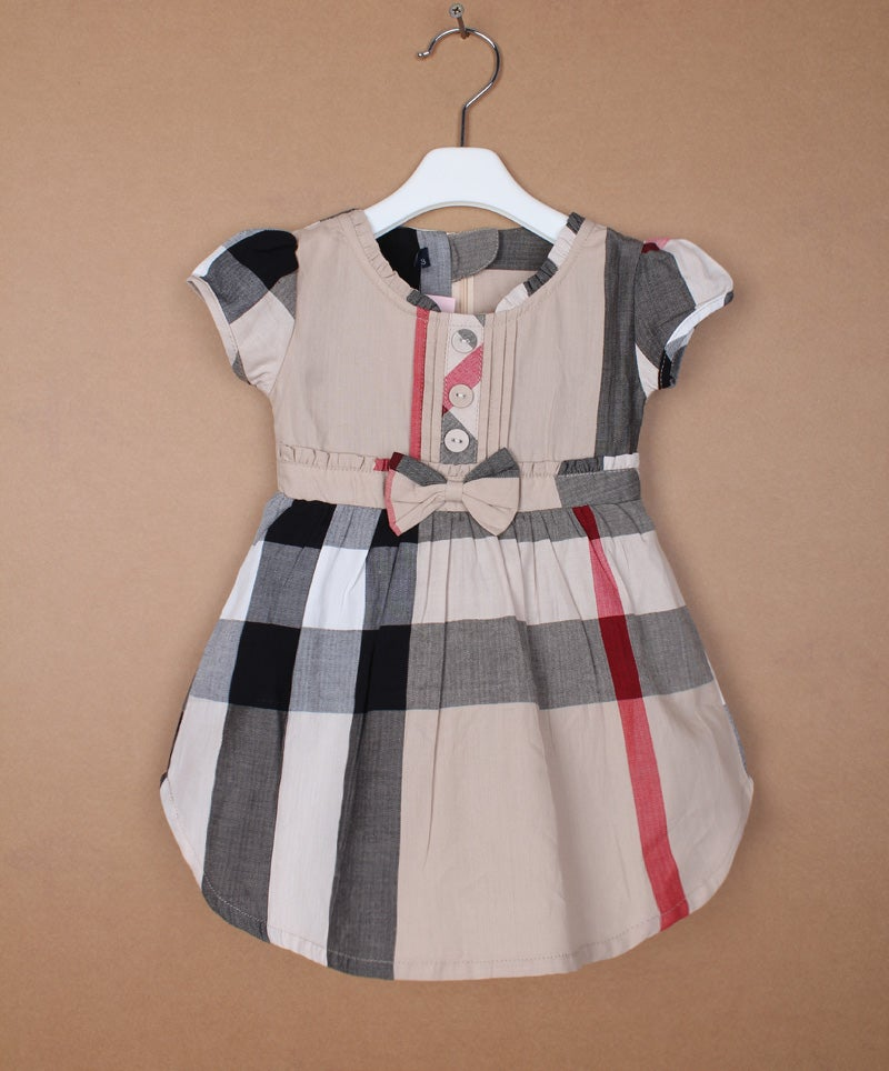 e76db48537e5 Image of Burberry Print Dress with Flutter Sleeves (Infant and Toddlers)