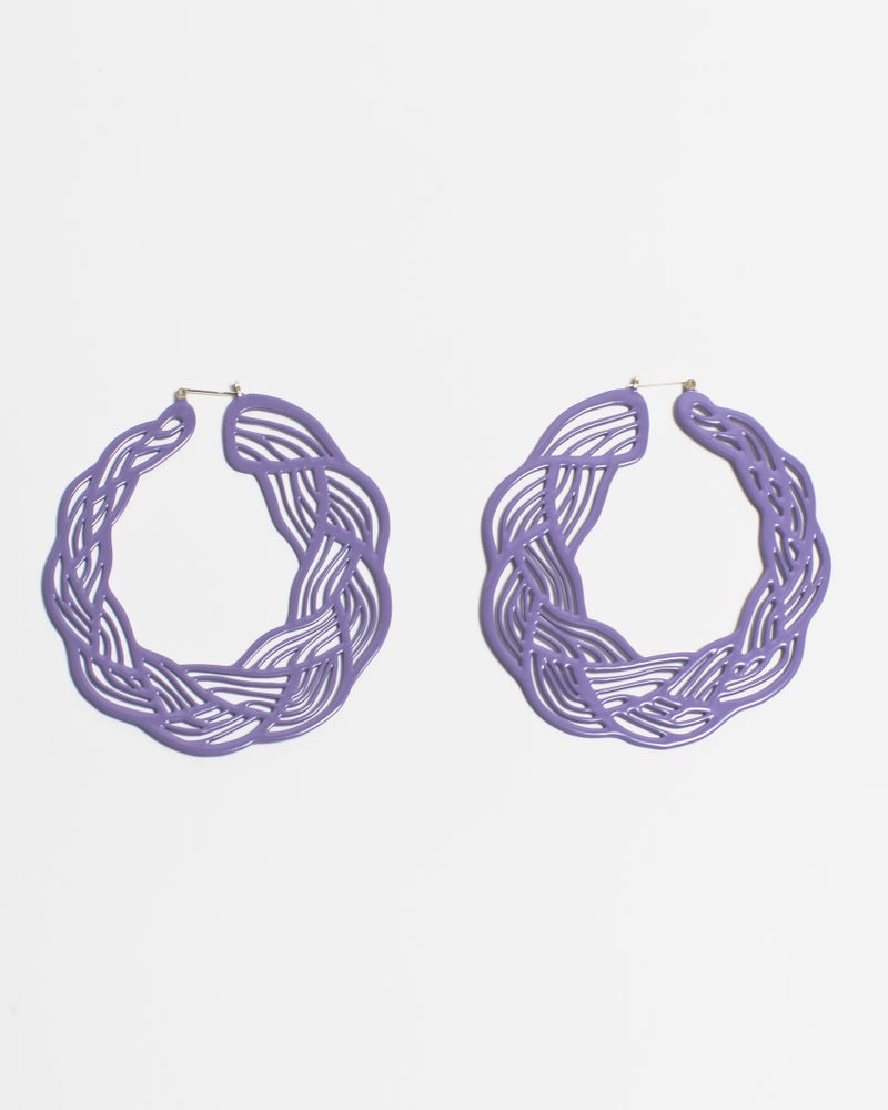 Image of Pastel Braid Hoops