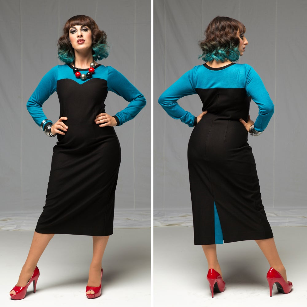 Image of KANDINSKY PENCIL DRESS (other options available