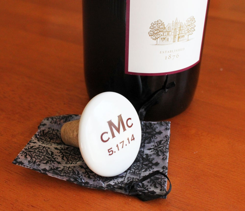 Image of Custom Monogram Wine Stopper