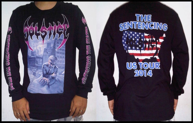"""Image of SOLSTICE """"The Sentencing US Tour 2014"""" Long Sleeve Shirt"""