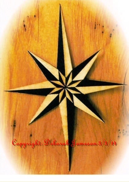 Image of Item No. And16. Marquetry Nautical Star.
