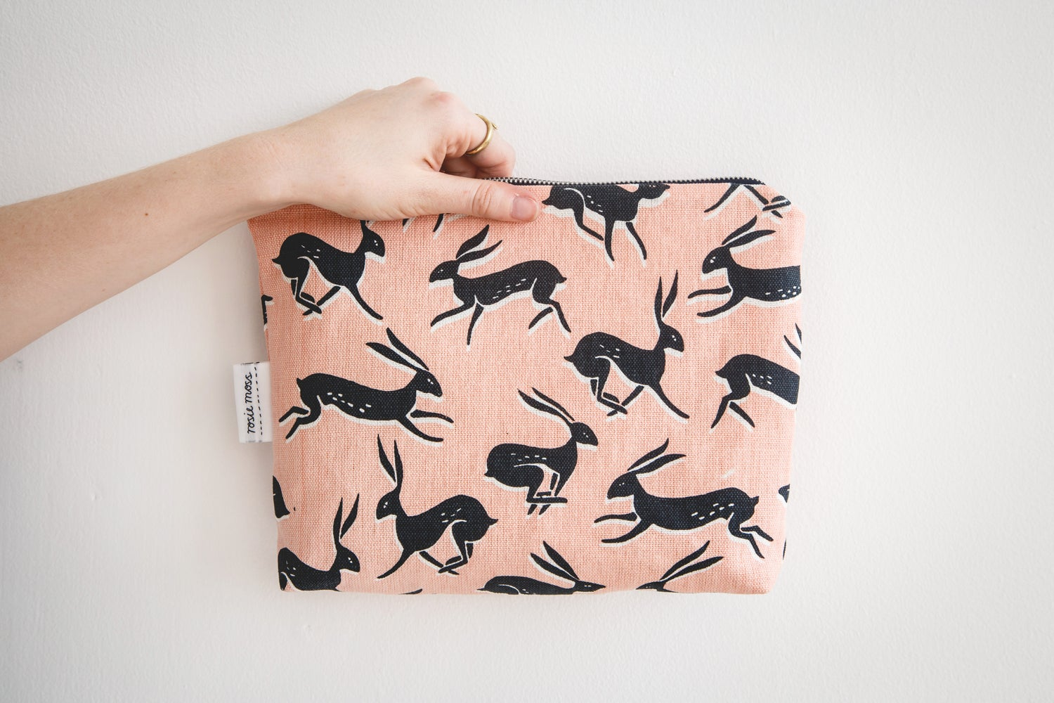 Image of 'Hare' cosmetic pouch