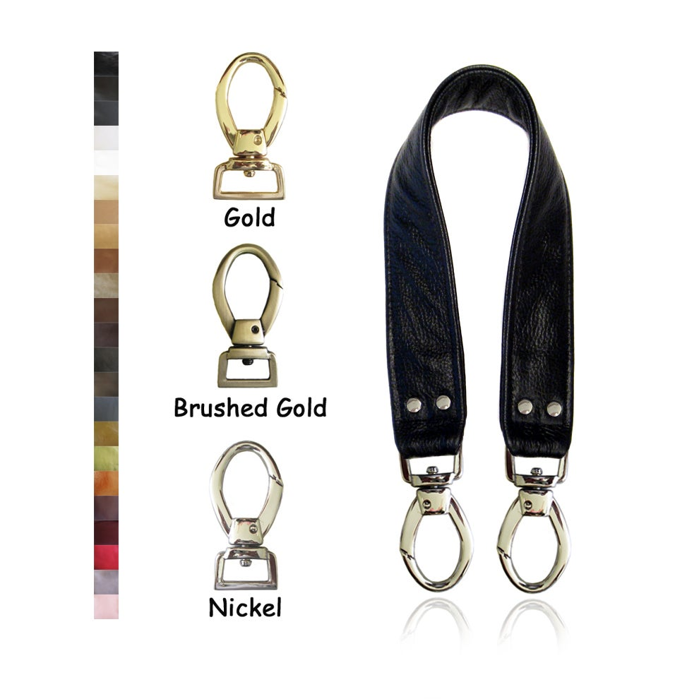 "Image of 20"" (inch) Leather Handle Strap - 1.5"" Wide - Your Choice of Leather Color & Hook #2"