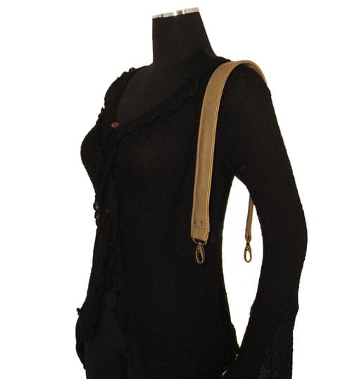 """Image of Leather Shoulder Bag/Purse Strap - Choose Color & Finish - 30"""" Length, 1.5"""" Wide, #16XLG Hooks"""