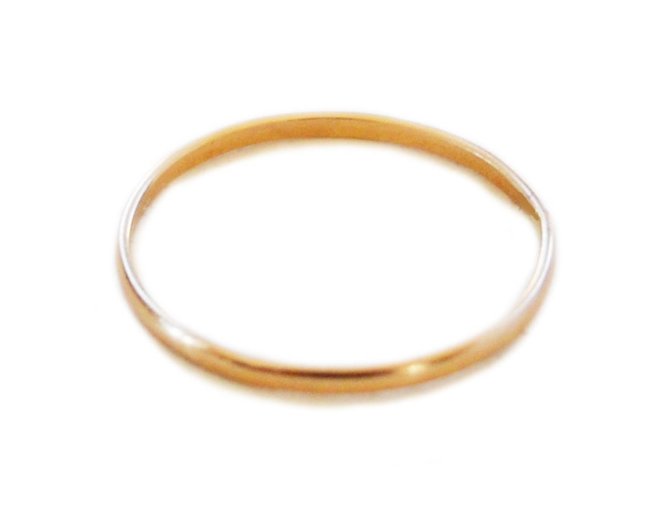 Image of Thin Solid 14K Gold Ring