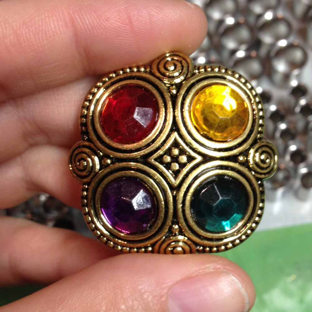 "Image of Big Colorful Gem Plugs (sizes 1"" - 1 3/8)"