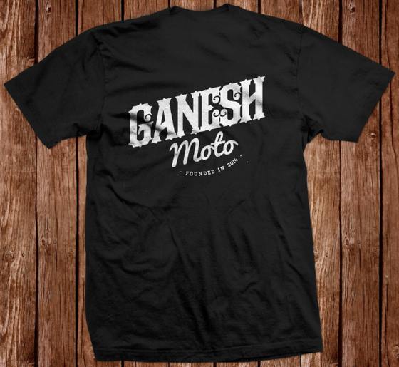 Image of GaneshMoto T-shirt Black