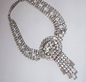 Caro Vintage Diamante Necklace - Laura Pettifar Designs