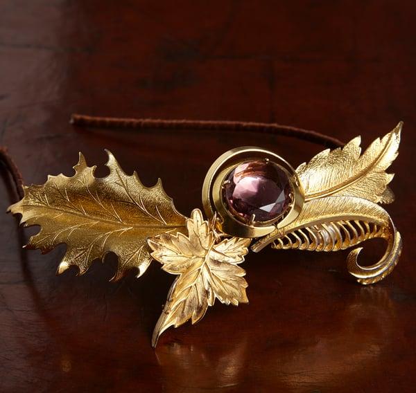 Eva Vintage Goldtone Headpiece - Laura Pettifar Designs