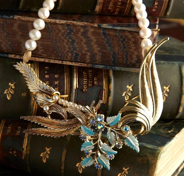 Adrienne Vintage Goldtone Necklace - Laura Pettifar Designs