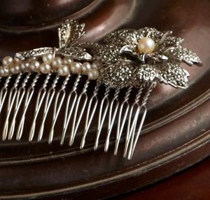 Evelyn Vintage Marcasite Bridal Comb - Laura Pettifar Designs