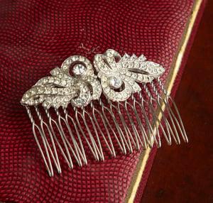 Ella Vintage Diamante Bridal Comb - Laura Pettifar Designs