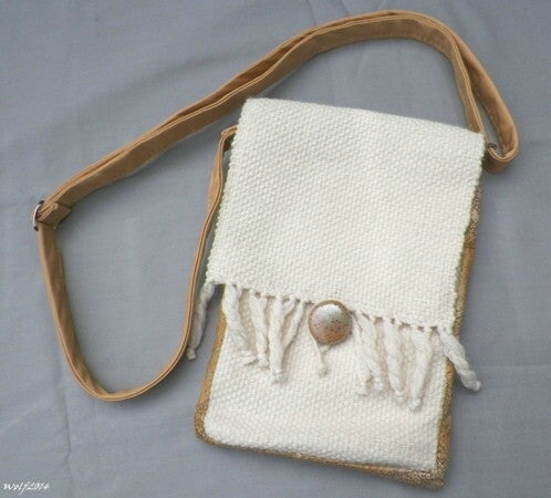 Image of SALE! Cream Gold, handmade purse, bag