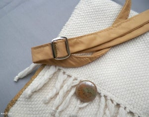 Image of SALE! Cream Gold, handmade purse, bag