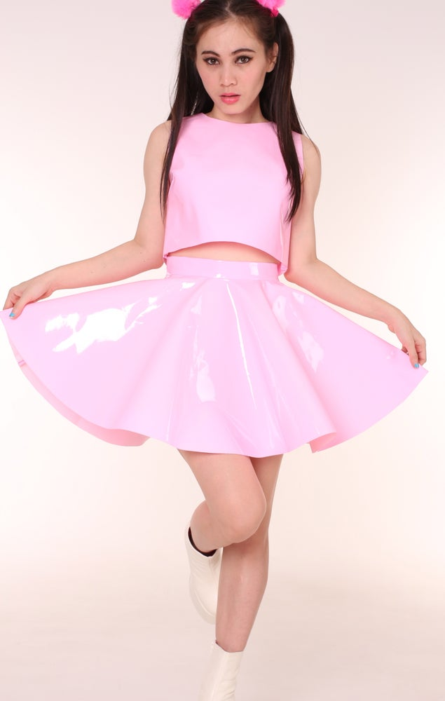 Image of Made To Order - Daniela Pink PVC 2 Piece Set