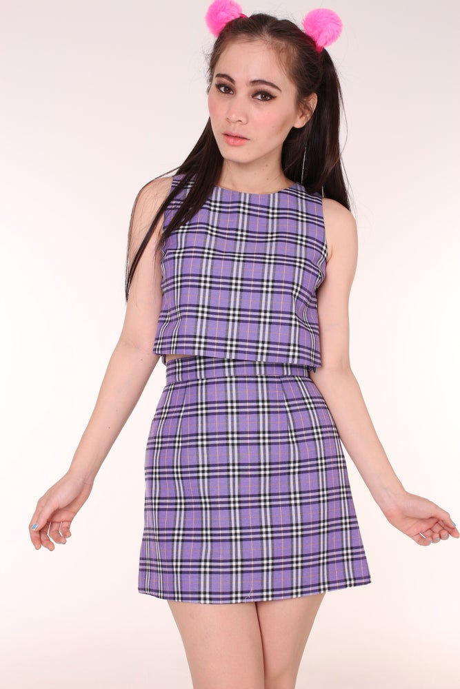 Image of Charli Purple Tartan Set