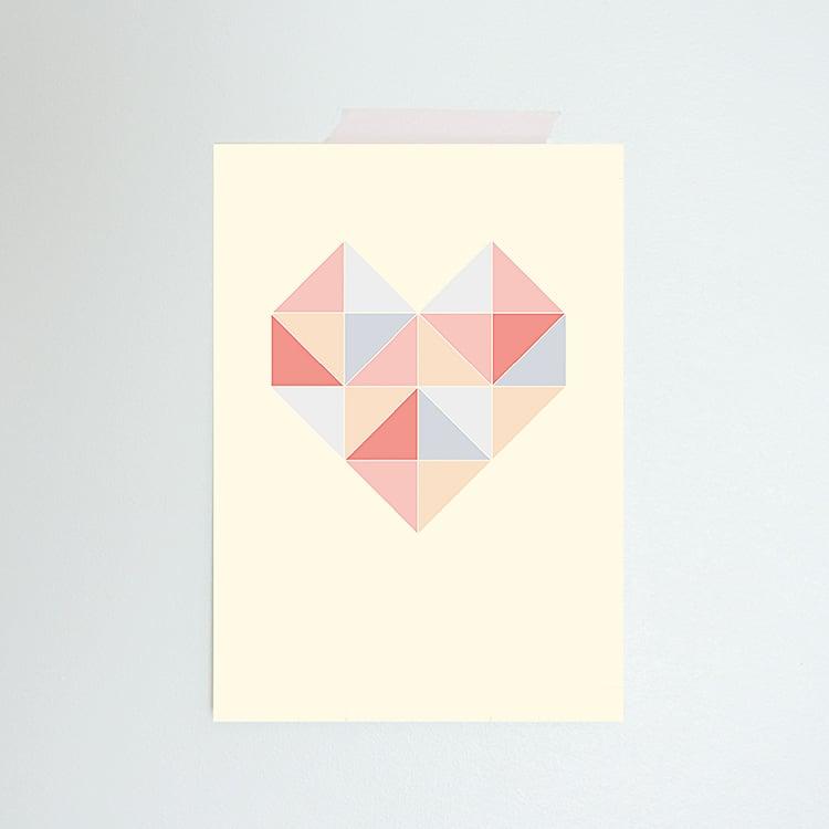Image of Carte postale simple Coeur