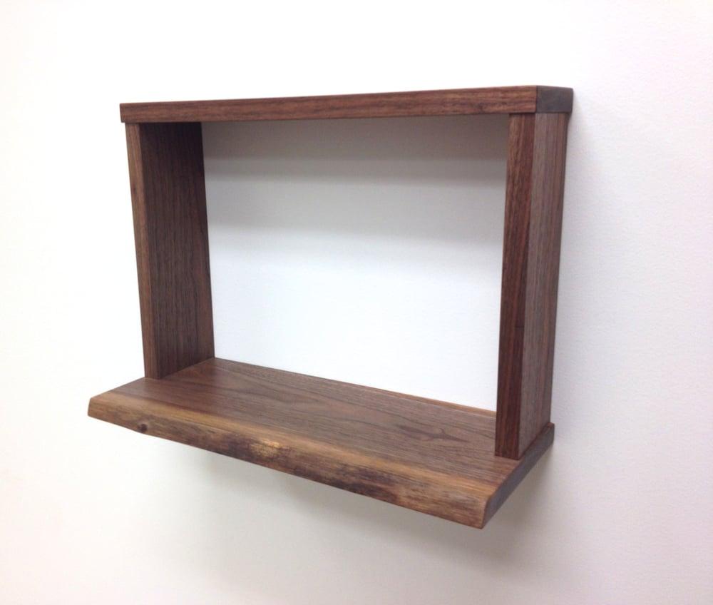 Image of Natural Edge Black Walnut Shelf