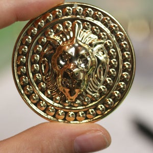 Image of Gold/Silver Lion Plugs (sizes 1 5/8-1 7/8)