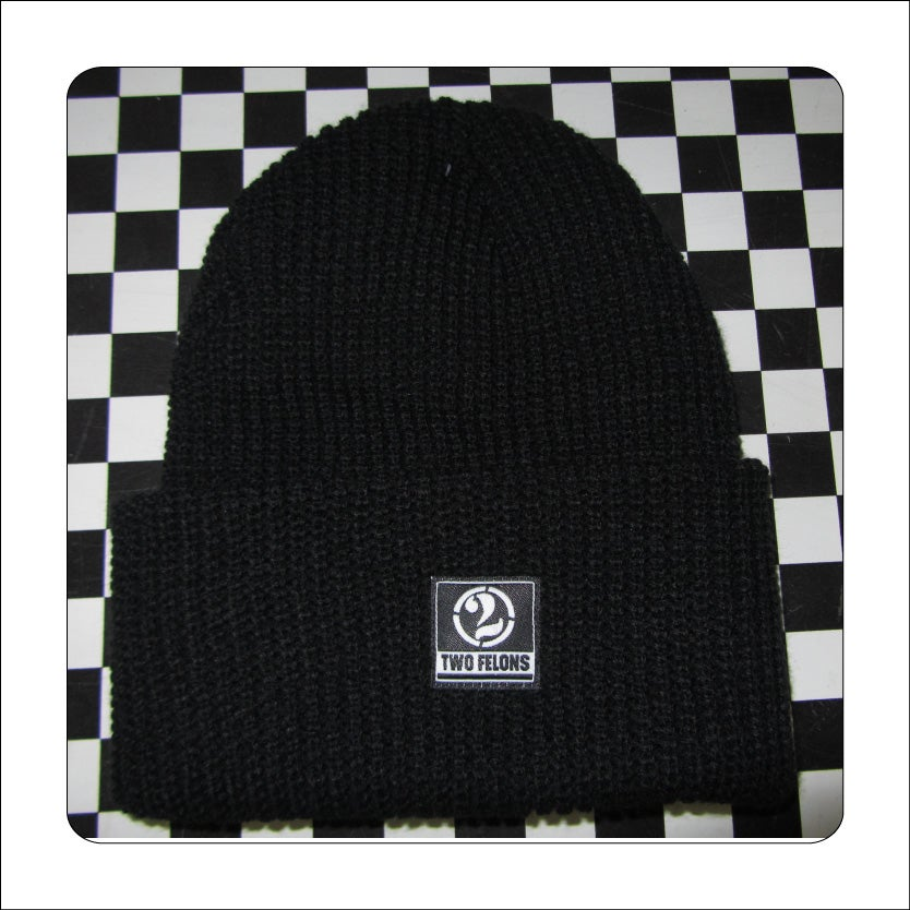 Two Felons Black Knit Beanie