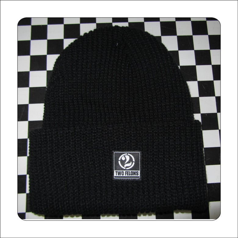 Image of Two Felons Black Knit Beanie