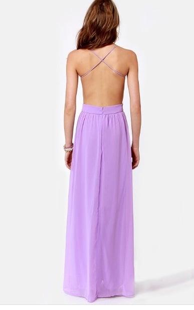 Image of Lilac Chiffon Dress