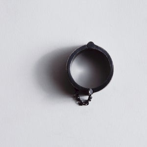 Image of HEAVY CUFF RING BLACK