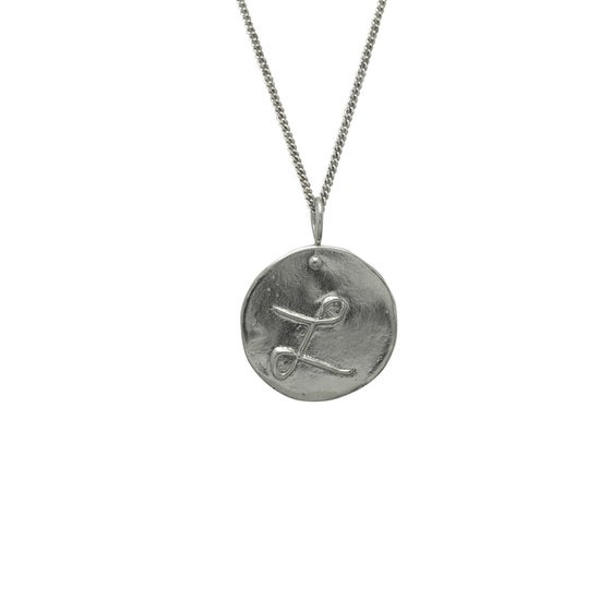 Image of Letter Medallion Necklace