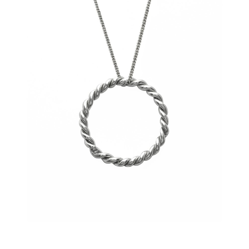 Image of Rope Circle Necklace