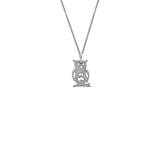 Image of Enchanted Forest Necklace Owl Branch Small