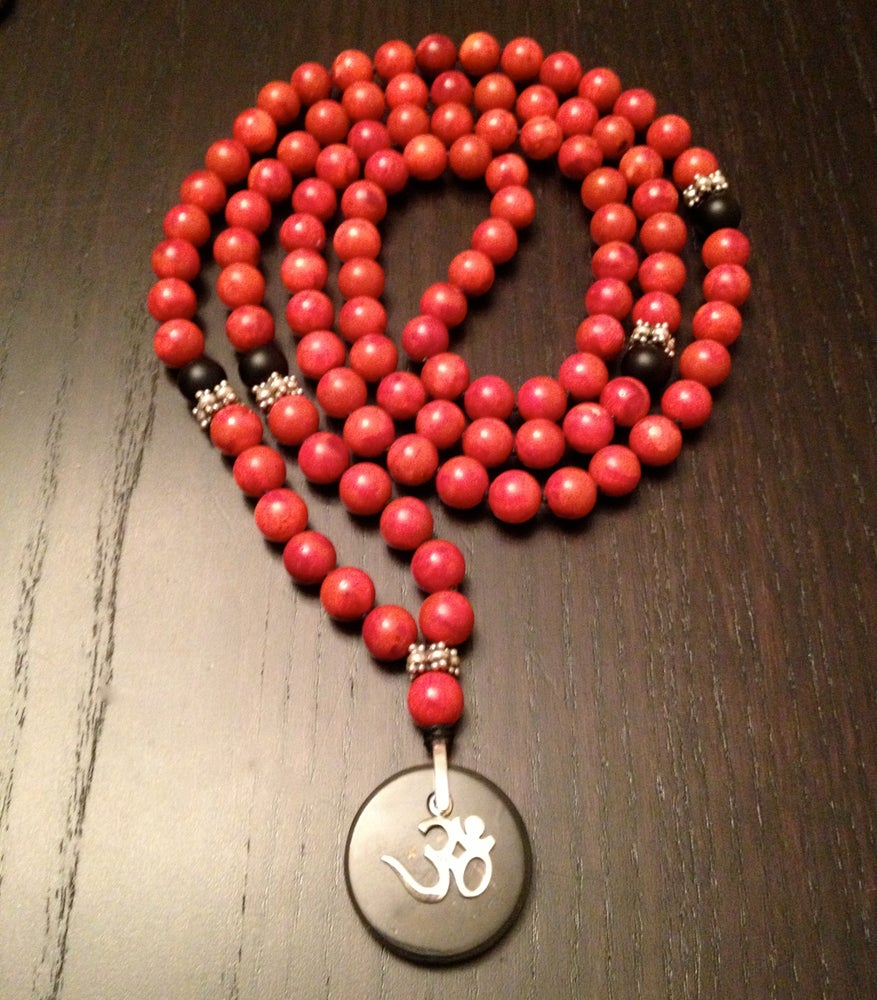 Image of 108 Red Coral OM Mala