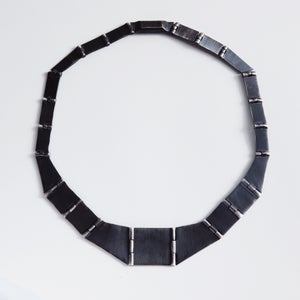 Image of PLATELET NECKLACE — BLACK
