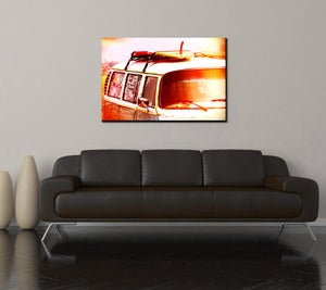 Image of 70'S SURF BUS - (Metal or Canvas)