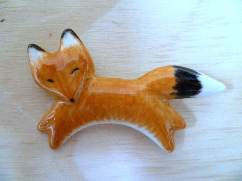 Image of Fox Brooch