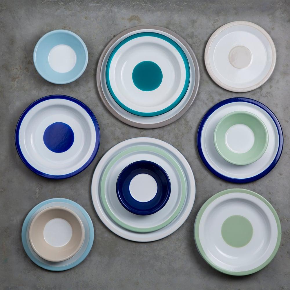 Image of Enamel Plate WHITE 20cm