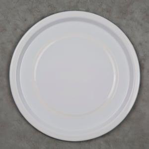 Image of Enamel Plate WHITE 24cm