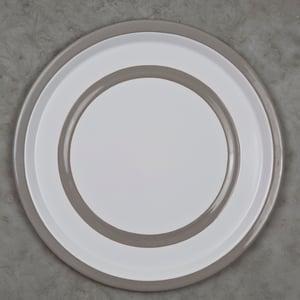 Image of Enamel Plate PEARL GREY 24cm