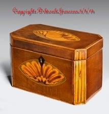 Image of Item No. A32. Marquetry Inlay Oyster Shell Design.