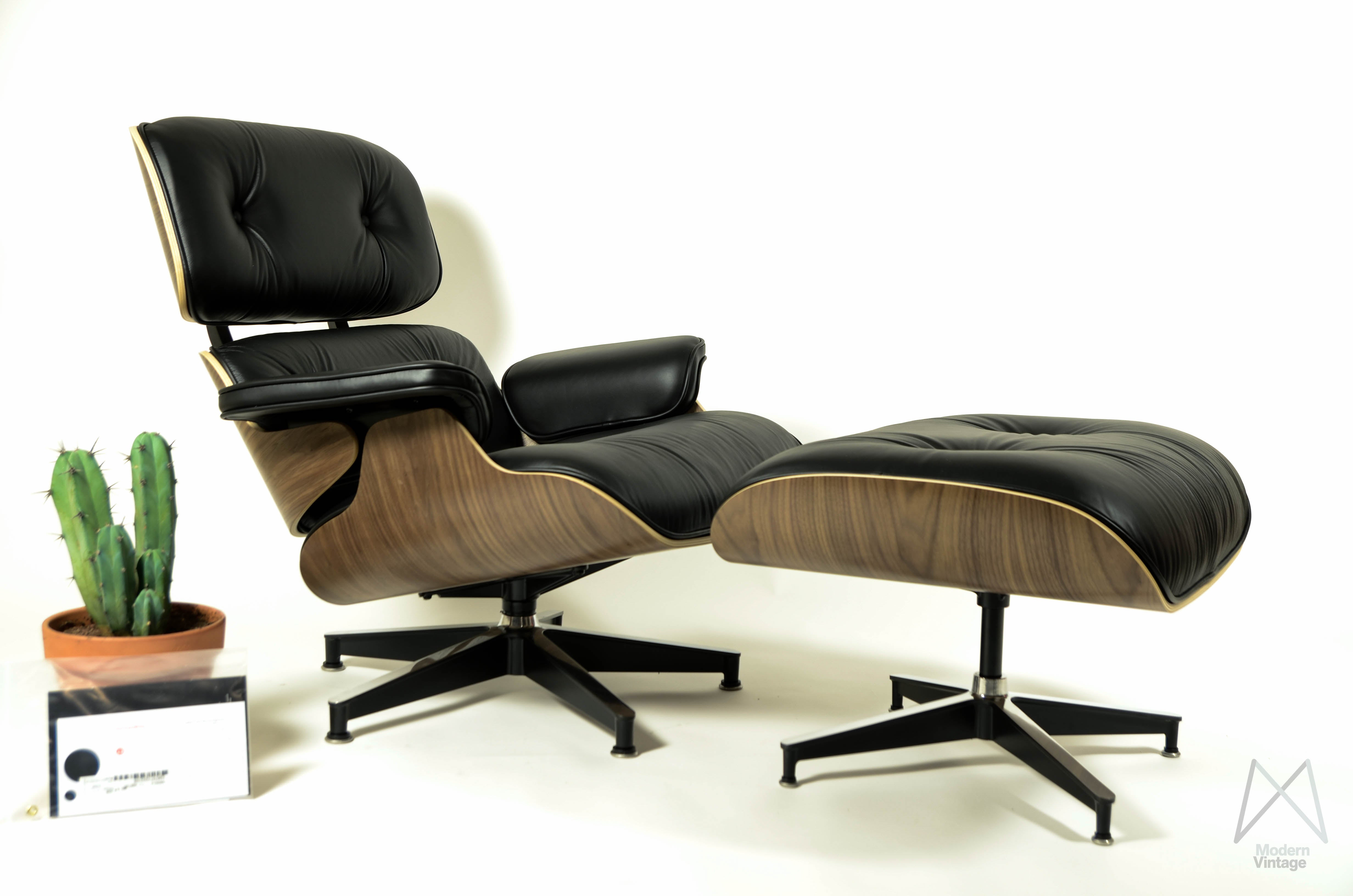 Image Of Eames Herman Miller Walnut Lounge Chair Ottoman New Europe