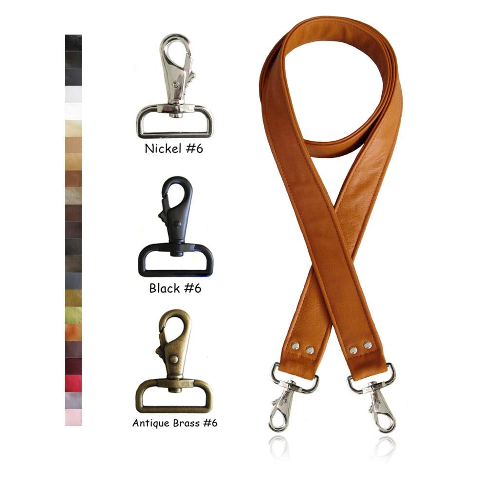 1.5 inch Leather Adjustable Cross Body Shoulder Messenger Bag Replacement Strap