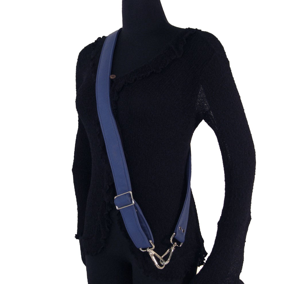 "Image of 55"" (inch) Adjustable Leather Purse Strap - 1.5"" (inch) Wide - Your Choice of Color & Hook #19"
