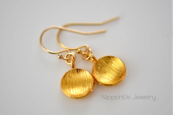 Image of Gold Dome Earrings in 24K Gold Vermeil