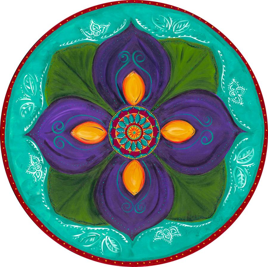 """Image of """"Spiritual awakening""""- Purple Lotus Bud Meditation Mat"""