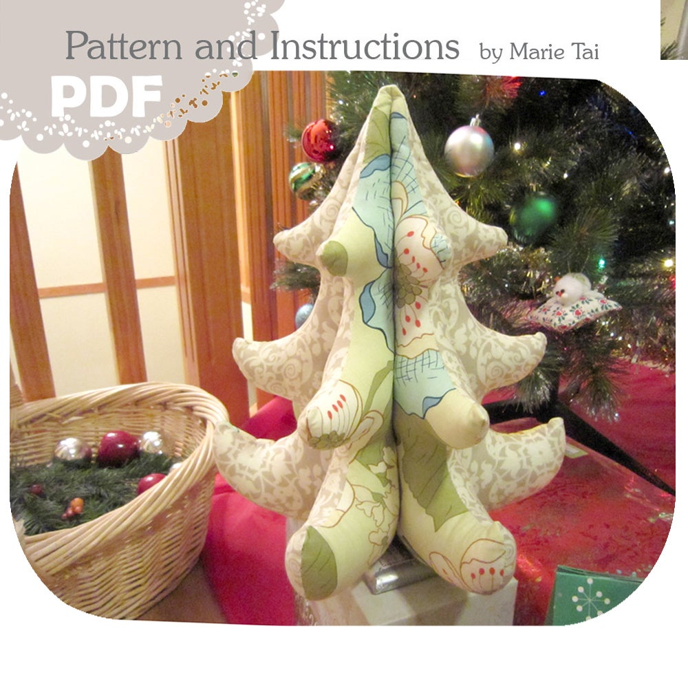 Pdf 3d Christmas Tree Tutorial With Templates 12 Inch Blue